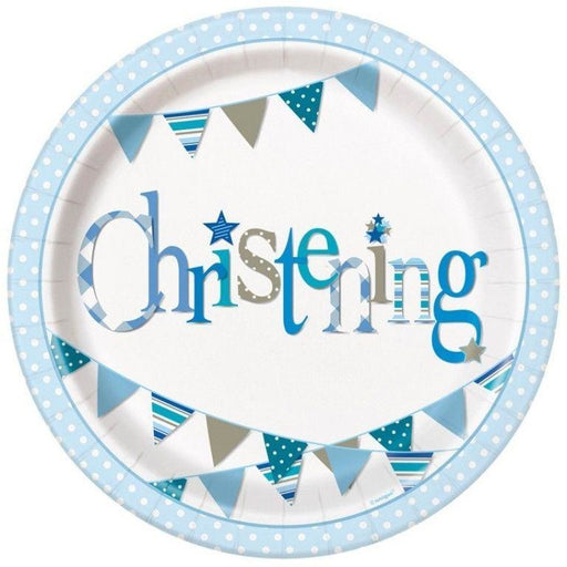 Unique boy christening plates