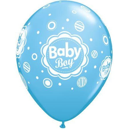 QX 11R 06CT PRINT RETAIL PKG,  BABY BOY DOTS