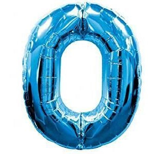 Blue Number Balloon 0