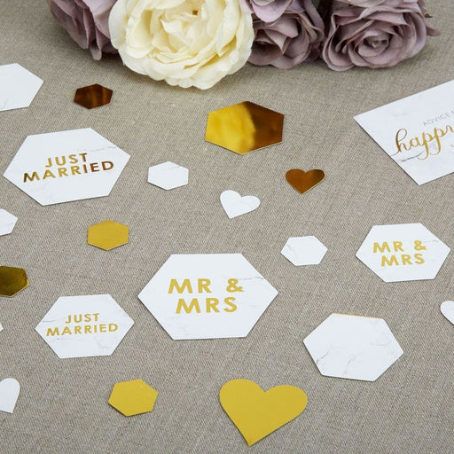 Scripted Marble - Table Scatter Confetti
