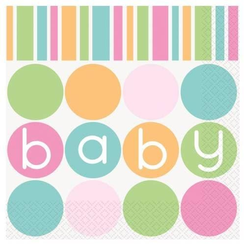 Polka Dot baby shower Napkins