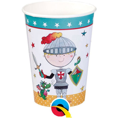 PARTY PAPER CUPS 8CT,  RE-KNIGHT PAPER CUPS