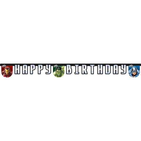 BANNER 1CT - HAPPY BIRTHDAY,  AVENGERS POWER