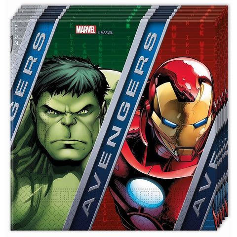 NAPKINS PAPER TWO-PLY 20CT,  AVENGERS POWER