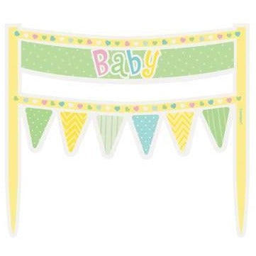 Polka Dots Baby Shower Cake Bunting