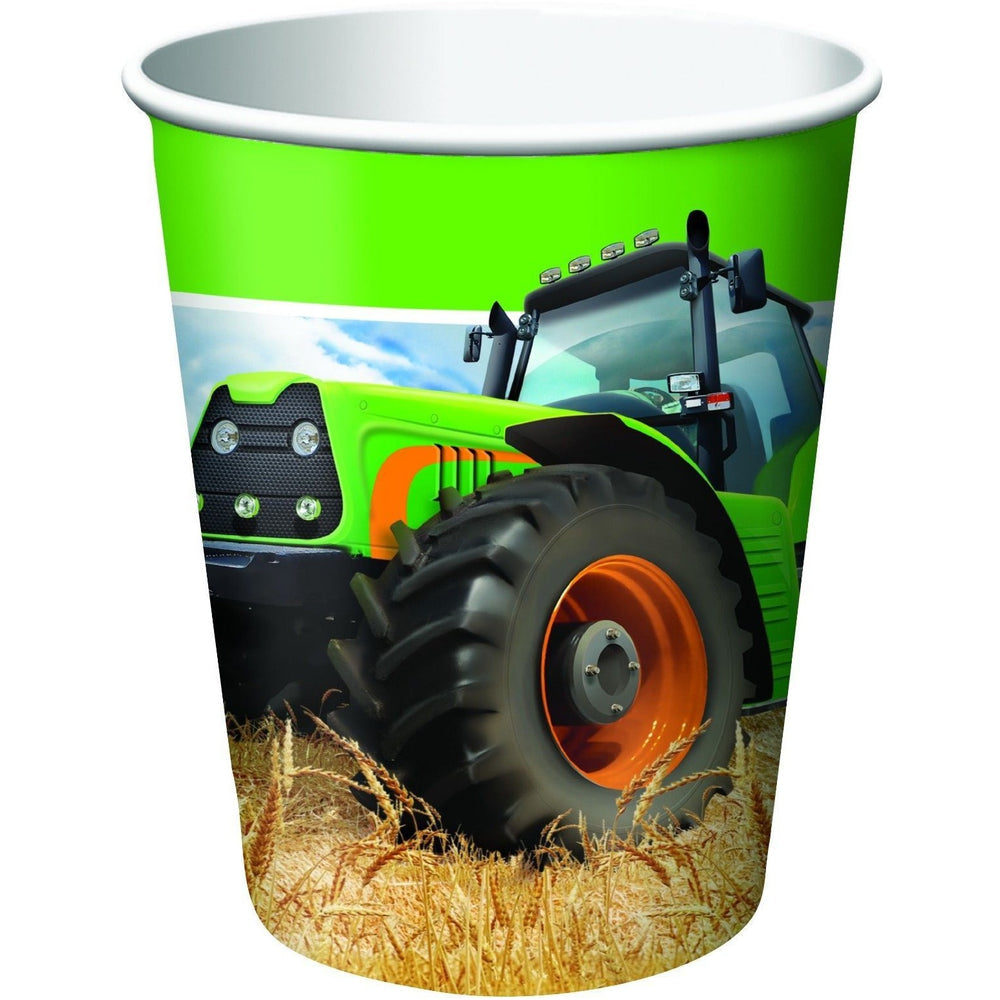 Tractor Time Paper Cups