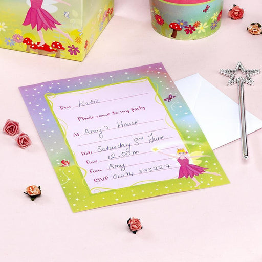 Fairy Princess Invitations- end of line-no further stock (CLR:5)