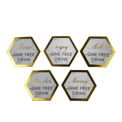 Scripted Marble - Drinks Tokens - 25