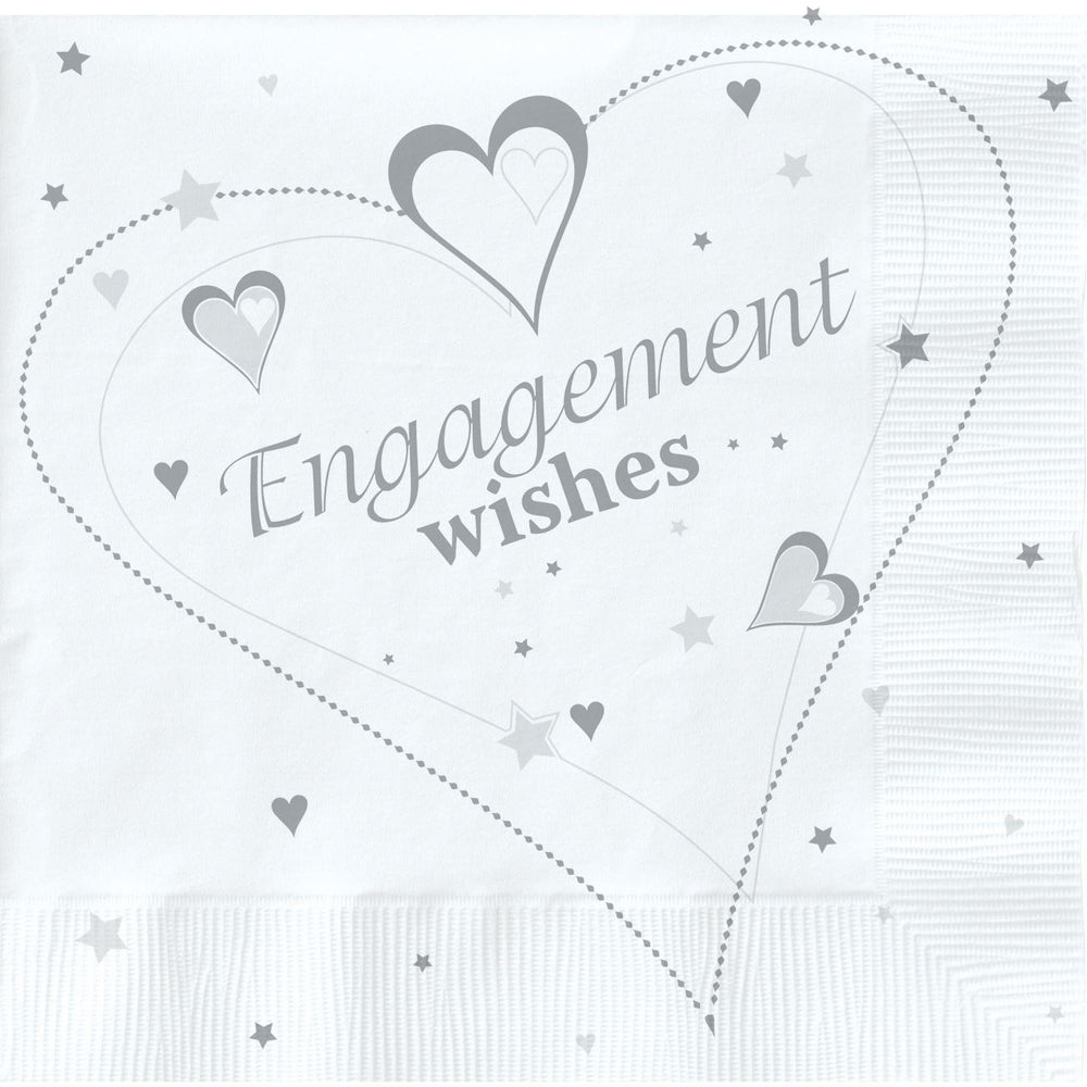 Engagement Wishes Lunch Napkins Metallic 2 ply