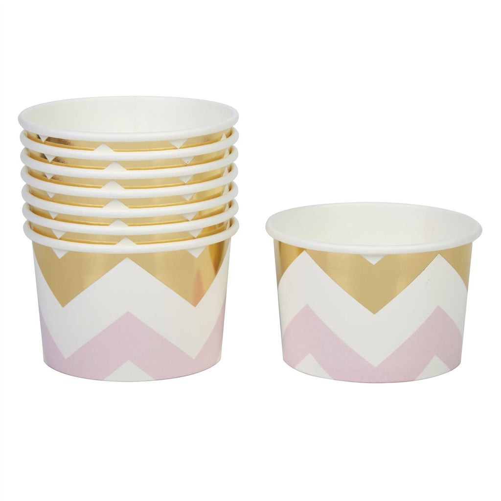 Pattern Works - Tubs Pink Chevron - 8 pack