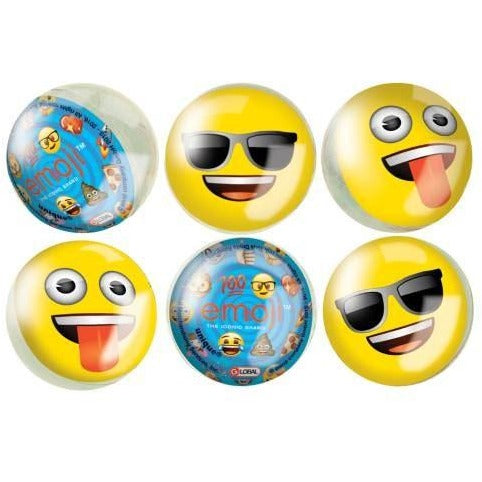 Emoji Bounce Balls, 6ct
