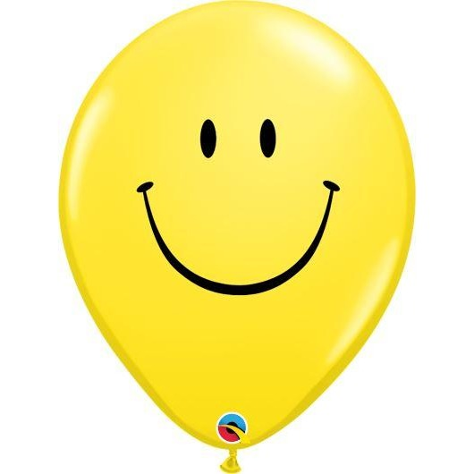 "16""  RND  YELLOW          50CT SMILE FACE (BLK)"
