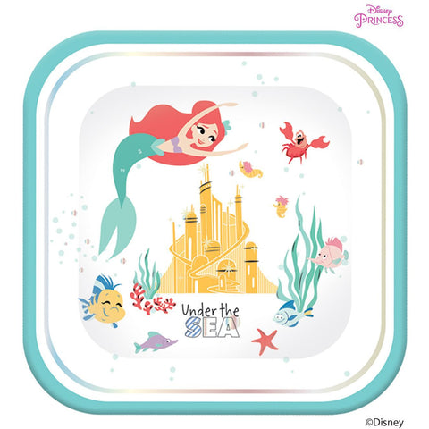 Disney Ariel Under the Sea Square Plates 4ct