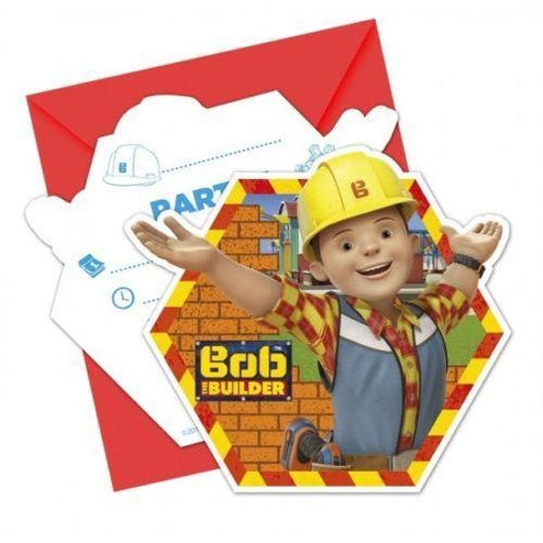 INVITATIONS & ENVELOPES 6CT BOB THE BUILDER - END OF LINE April 2018 (Clear Tubs - Stacked)