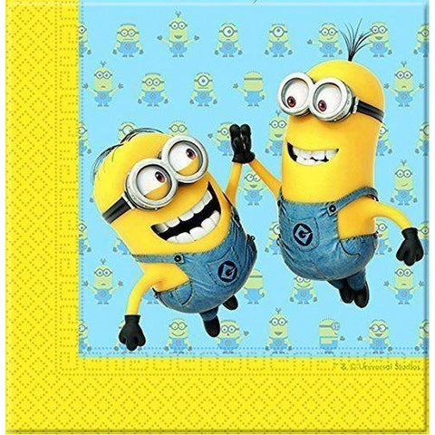 NAPKINS PAPER TWO-PLY 20CT,  LOVELY MINIONS