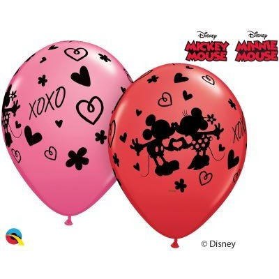 "11""  RND  RED&ROSE        25CT DN MICKEY & MINNIE XOXO"