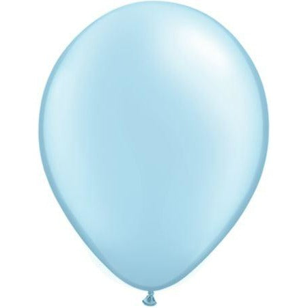 "05""  RND  PRL LT BLUE    100CT QUALATEX PLAIN LATEX"