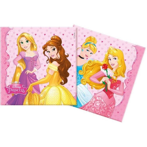NAPKINS PAPER TWO-PLY 20CT,  DISNEY PRINCESS