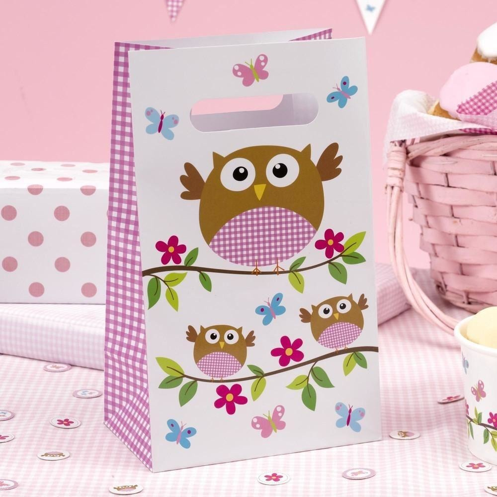 Little Owls - Party Bag - 5 - Pink