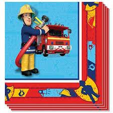 Fireman Sam Napkin pack of 20