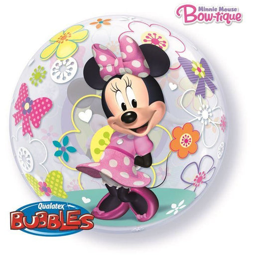"22""  SINGLE BUBBLE        01CT,  DN MINNIE MOUSE BOW-TIQUE"