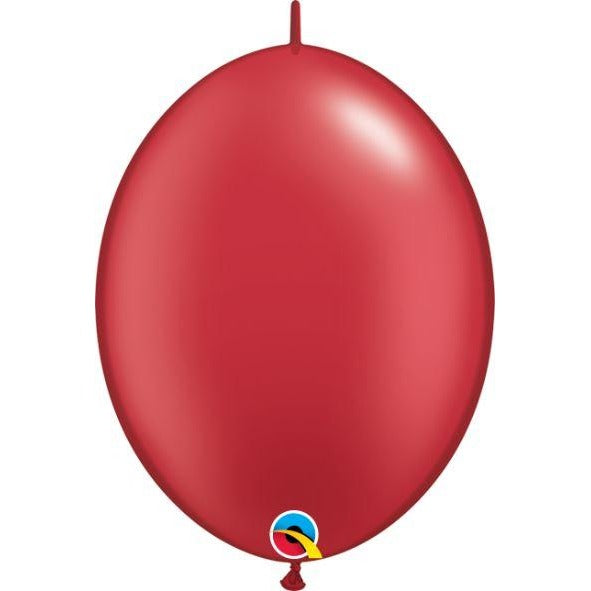 "06"" QLINK PRL RUBY RED    50CT,  QUALATEX QUICK LINK BALLOONS"