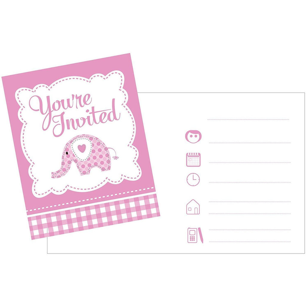 Sweet Christening Pink Invites