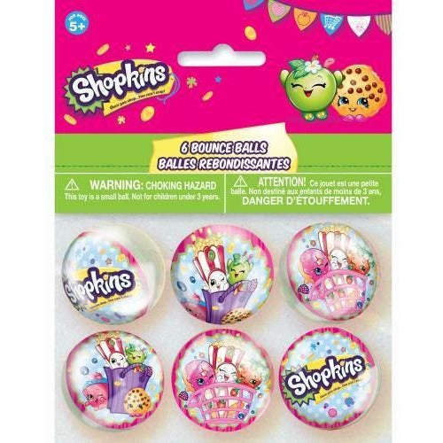 6 Shopkins Bounce Ball - end of line (Clear Tubs - Stacked)