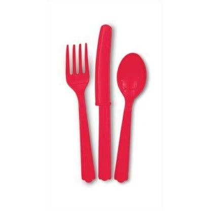Ruby Red Cutlery Set