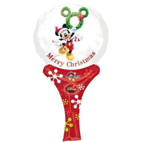 12'' Mickey Mouse Xmas Inflate A Fun Balloon - House Of Party
