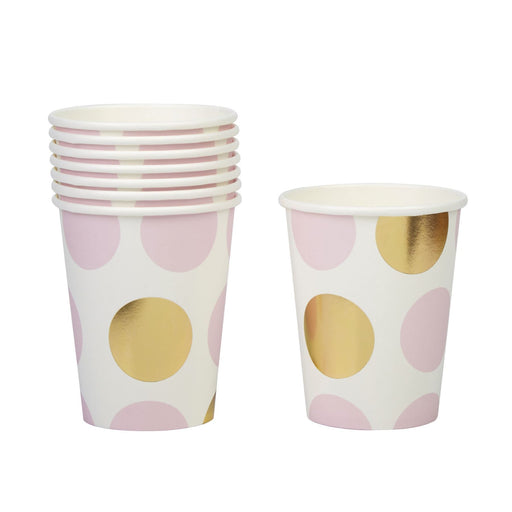 Pattern Works - Cup Pink Dots - 8 pack