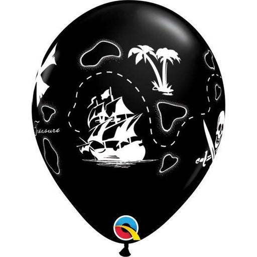 "11""  RND  ONYX BLACK      50CT PIRATE'S TREASURE MAP"