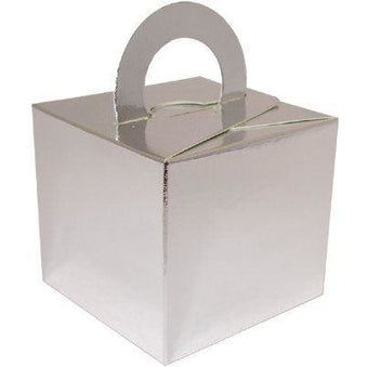 1 Cake Box Balloon Weights Silver (Single box, Open Pack)