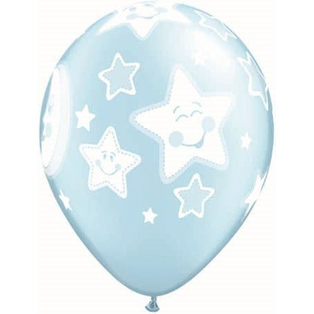 QX 11R 06CT PRINT RETAIL PKG BABY MOON & STARS/PALE BLUE