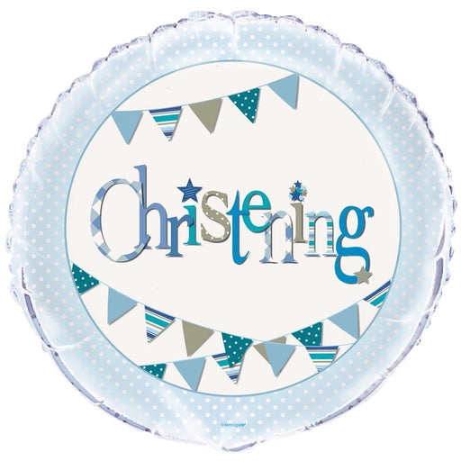 Unique boy christening foil balloon