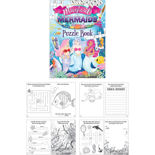 Mermaid Puzzle Book Henbrandt x1