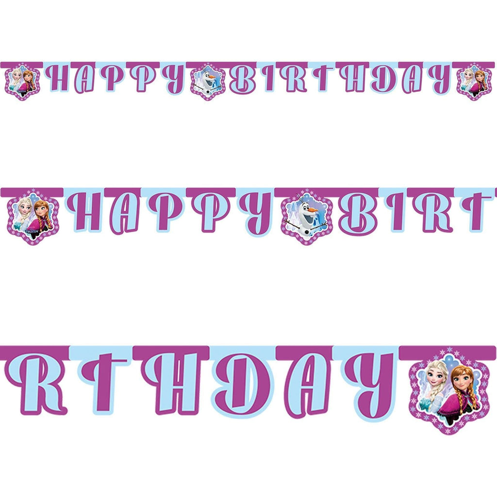 BANNER 1CT - HAPPY BIRTHDAY,  DISNEY FROZEN