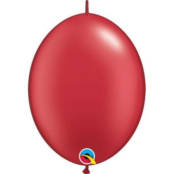 "12"" QLINK PRL RUBY RED    50CT QUALATEX QUICK LINK BALLOONS"