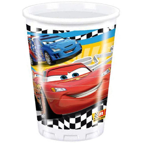 CUPS PLASTIC 200ML 8CT,  DISNEY/PIXAR CARS