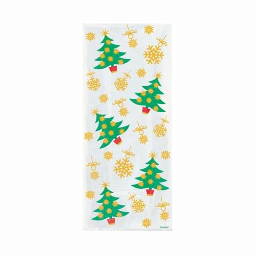 Golden Christmas Tree Cello Bag (special price 0.38 when ordered in mixed pallet of 1440) - Seasonal Do not Order