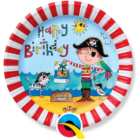 PARTY PAPER PLATES 8CT,  RE-PIRATE PAPER PLATES