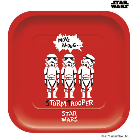 Disney Star Wars Paper Cut Square Plates 4ct