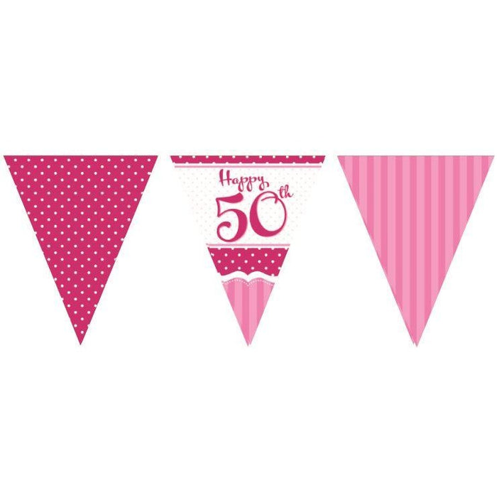 Perfectly Pink Bunting 50th