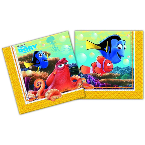 NAPKINS PAPER TWO-PLY 20CT,  FINDING DORY