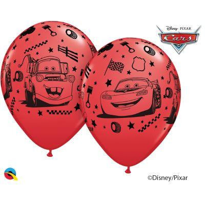 12'' Cars Lightning & Mater Red Latex Balloons Retail Pack