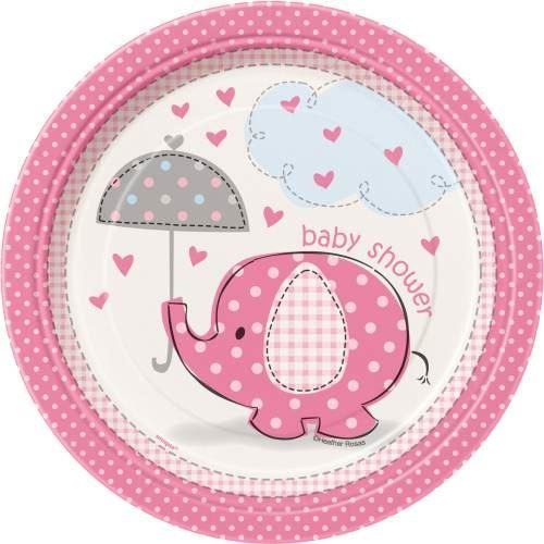 Umbrellaphants pink small plate