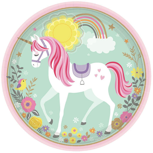 Magical Unicorn 23 cm Round Plates