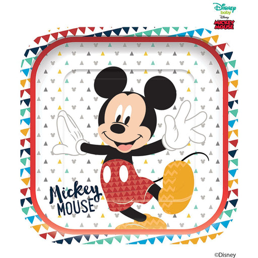 Disney Awesome Mickey Mouse Square Plates 25cm 4ct