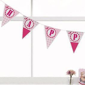 Little Bird Happy Birthday Bunting - END OF LINE (CLR:3)