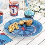 Ahoy There 1st Birthday Plate - 8 Pack